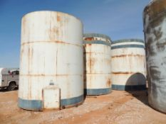 LOT: (3) 300 BBL. 12 Ft. x 15 Ft. Steel Tanks (Located Lower Yard)(LOCATED IN HENNESSEY, OK)