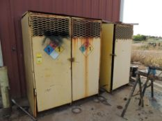 LOT: (2) Welding Gas Storage Compartments, (2) Steel Horses(Located Cowboy Bldg)(LOCATED IN HENNESSE
