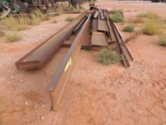 LOT: Assorted Steel Structural ShapesW-Beam, Angle, Channel (Located Lower Yard)(LOCATED IN HENNESSE