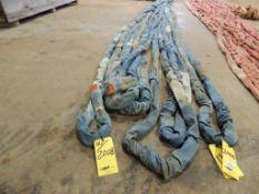 LOT: (4) Polyester Slings, 23k. Lb. Cap, x 20 Ft., (3) Polyester Sling 23k. Lb. Cap x 30 Ft.(Located