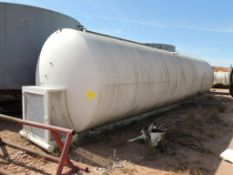 Skid Mounted Horizontal Steel Tank Approx. 8 Ft. x 30 Ft. (Located Lower Yard)(LOCATED IN HENNESSEY,