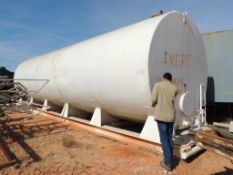 Skid Mounted Horizontal Steel Tank Approx. 10 Ft. x 36 Ft. (Located Lower Yard)(LOCATED IN HENNESSEY