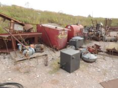 LOT: Assorted Used equipment, Pumps, Engines, Drawworks, Pipe, Drilling Platform, Scrap (Located Low