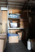 LOT: (2) Sets of Racking with Contents including Mattresses in Box, Moving Blankets in (8) Boxes (ho