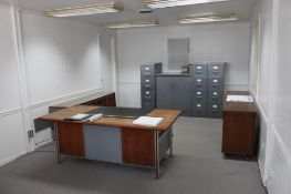 LOT: Contents of Office including (3) Desks, (4) File Cabinets, Cabinet