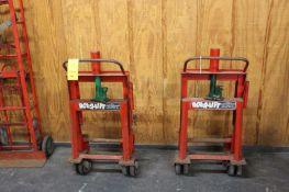 LOT (2): Rol-A-Lift Hydraulic Rais-N-Rol Machinery Dollies, 2000 lb. Capacity