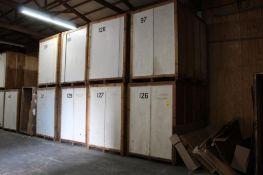 LOT: (12) 7 ft. x 5 ft. x 7 ft. (est.) Wooden Storage Vaults