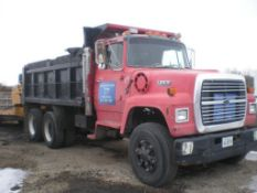 1989 Ford 14 ft. Tandem-Axle Dump Truck Model L8000, VIN 1FDYU82A4KVA36884, Diesel, Manual Transmiss