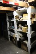 LOT: Contents of Maintenance Room including Hardware, Ladders, Shovels, Spare Parts, Hand Tools, Tab