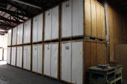 LOT: (14) 7 ft. x 5 ft. x 7 ft. (est.) Wooden Storage Vaults