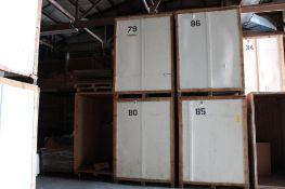 LOT: (8) 7 ft. x 5 ft. x 7 ft. (est.) Wooden Storage Vaults
