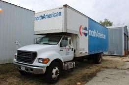 2000 Ford 26 ft. Box Truck Model F-650 XLT Super Duty, VIN 3FDNF6587YMA23866, Diesel, Automatic Tran