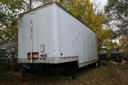 2000 Trailmobile 28 ft. Single-Axle Dry Van Trailer, VIN 1PT07BAE6Y9001565, Roll-up Rear Door