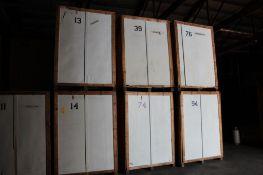 LOT: (18) 7 ft. x 5 ft. x 7 ft. (est.) Wooden Storage Vaults