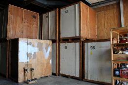 LOT: (6) 7 ft. x 5 ft. x 7 ft. (est.) Wooden Storage Vaults