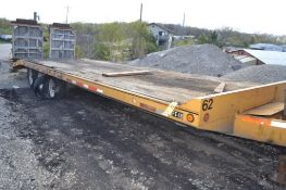 2002 Felling 96 in. x 22 ft. Wood Deck Tri-Axle Flatbed Trailer, VIN 5FTDE272021018491, 48 in. Beave
