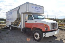 2000 GMC 21 ft. Single-Axle Movers Box Truck Model C5500, VIN 1GDE6H1B8YJ901668, Gasoline, Automatic