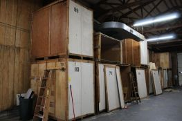 LOT: (15) 7 ft. x 5 ft. x 7 ft. (est.) Wooden Storage Vaults