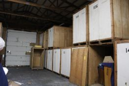 LOT: (13) 7 ft. x 5 ft. x 7 ft. (est.) Wooden Storage Vaults