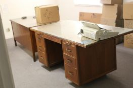LOT: (2) Wooden Desks (upstairs)