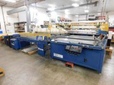 M&R Renegade Graphics Screen Printing System Model RENFL-4056TOL/VIT2-4810-1, S/N 070040469R (LOCATE