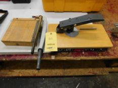 LOT: Corner Rounder, (2) Paper Cutters (LOCATED IN ST. AUGUSTA, MN.)