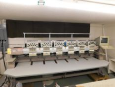 Z SK Embroidery Machine Model J0611, S/N 25490 (1998) (LOCATED IN ST. AUGUSTA, MN.)