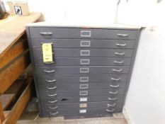 42 in. x 29 in. x 42 in. (est.) 11-Drawer Blueprint Cabinet (LOCATED IN ST. AUGUSTA, MN.)