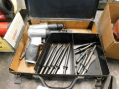 LOT: (2) Air Hammers in Crate, with Tooling