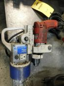 LOT: Milwaukee Magnum Hole Shooter Drill Driver, with Kanetec Magbore Model KCD-MN1 Magnetic Drill