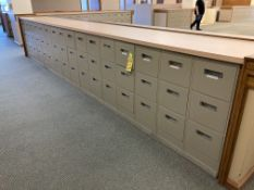 (16) steel 3 drawer file cabinets
