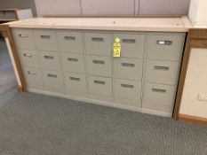 (6) steel 3 drawer file cabinets