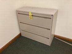 "42"" steel 3 drawer file cabinet"