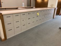 (13) steel 3 drawer file cabinets