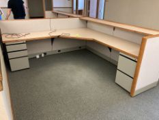 (2) low cubicles with desk