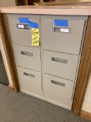 (2) steel 3 drawer file cabinets