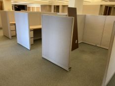 (3) cubicles, 2 with desks