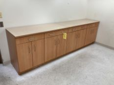 """(2) cabinets with counter top, 54"""" x 24"""""""