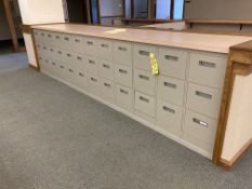 (12) steel 3 drawer file cabinets