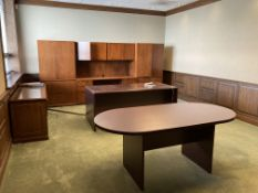 Wood desk, cradenza, table, wall unit