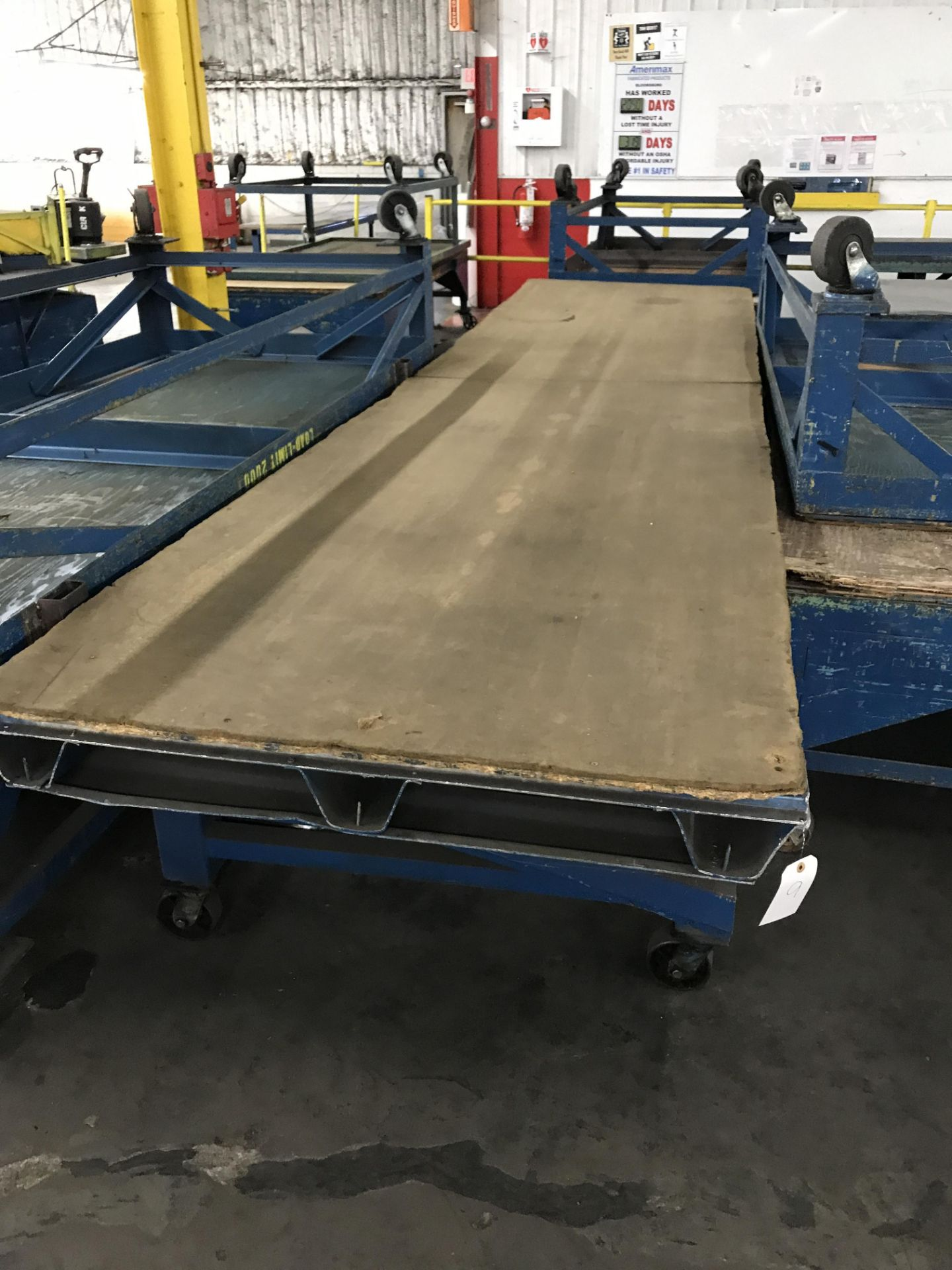 Rolling Table, 16'x4', 2,000 lbs Capacity
