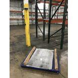 MyScale digital scale, 5,000 lbs capacity, 4'x4'pad, blue