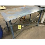 Steel Table, 5'Lx3'Wx3'H
