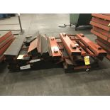 """Coil Holders, skid with Orange 48""""Lx28""""W V-Shaped Coil Holders"""