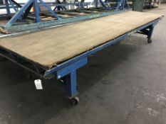 Rolling Table, 16'x4 1/2', 2,000 Lbs