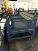 Rolling Table, 10'x4', 2,000 Lbs Capacity