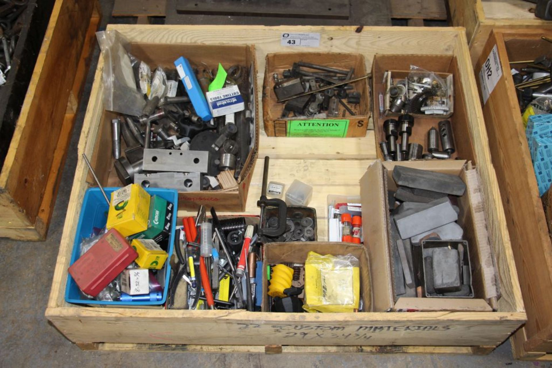 Lot 43 - assortment of tool holders, end mills & misc.