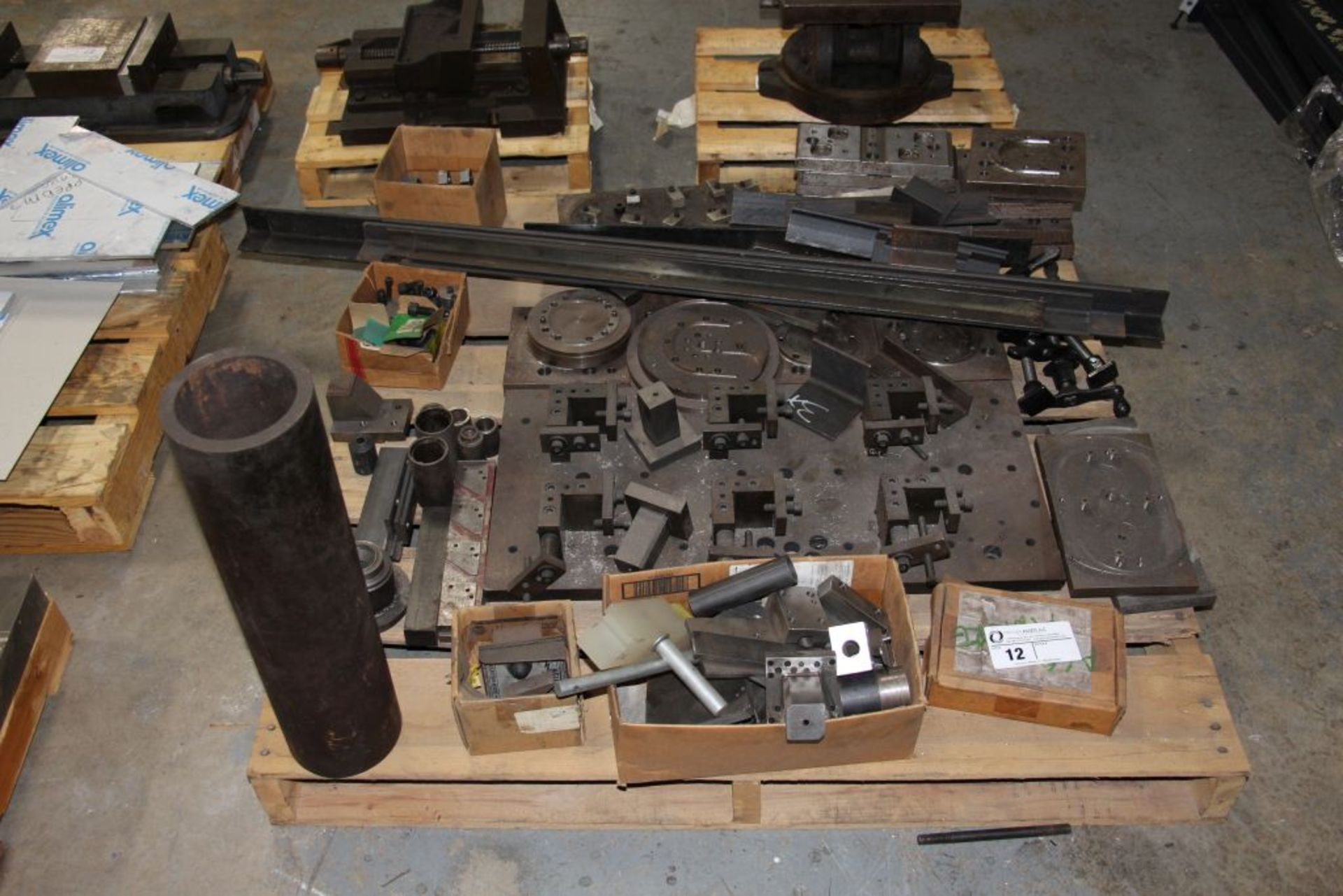 Lot 12 - assortment of steel fixtures, angle iron & misc.