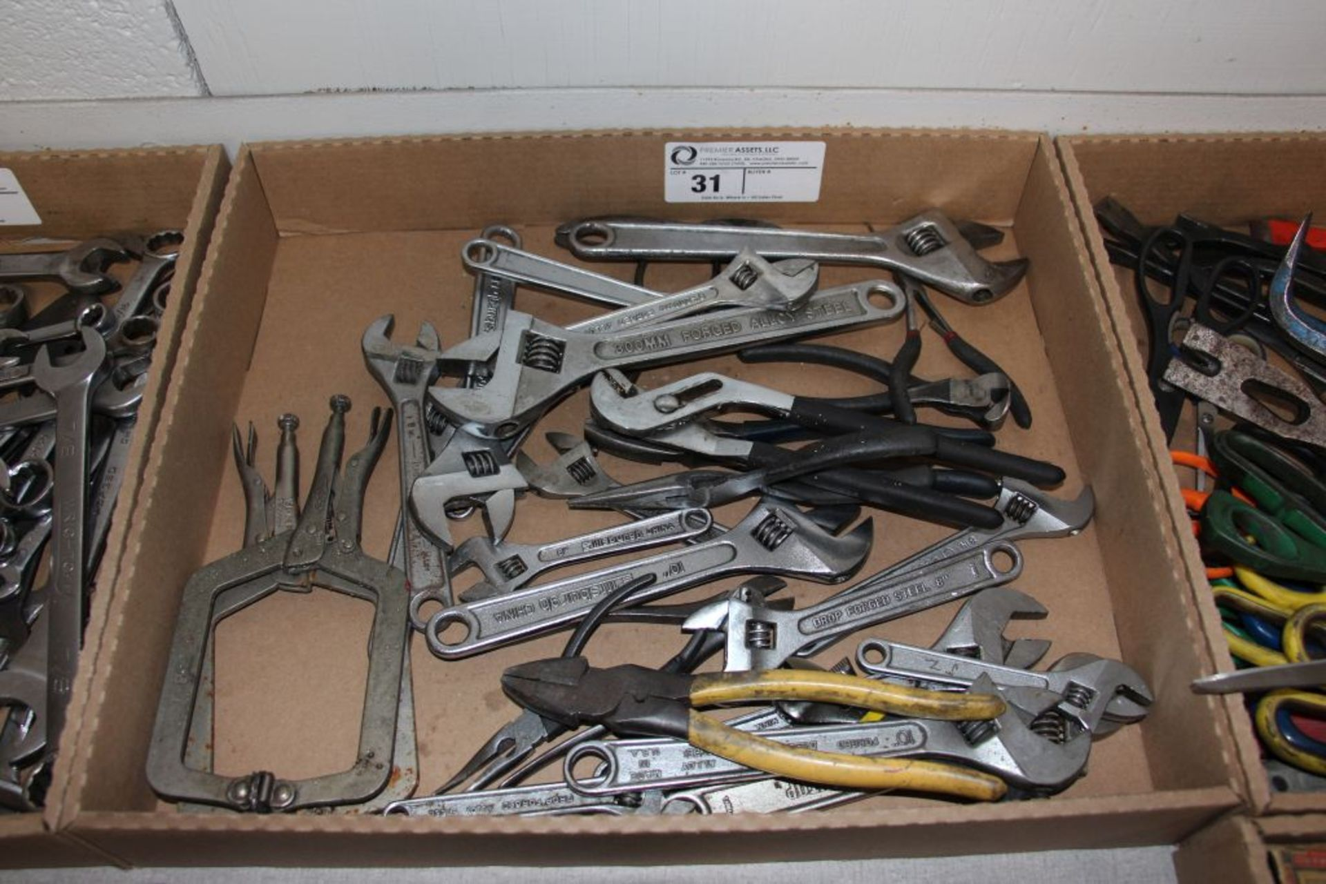 "Lot 31 - assortment of crescent wrenches, 6"" - 12"" & misc."
