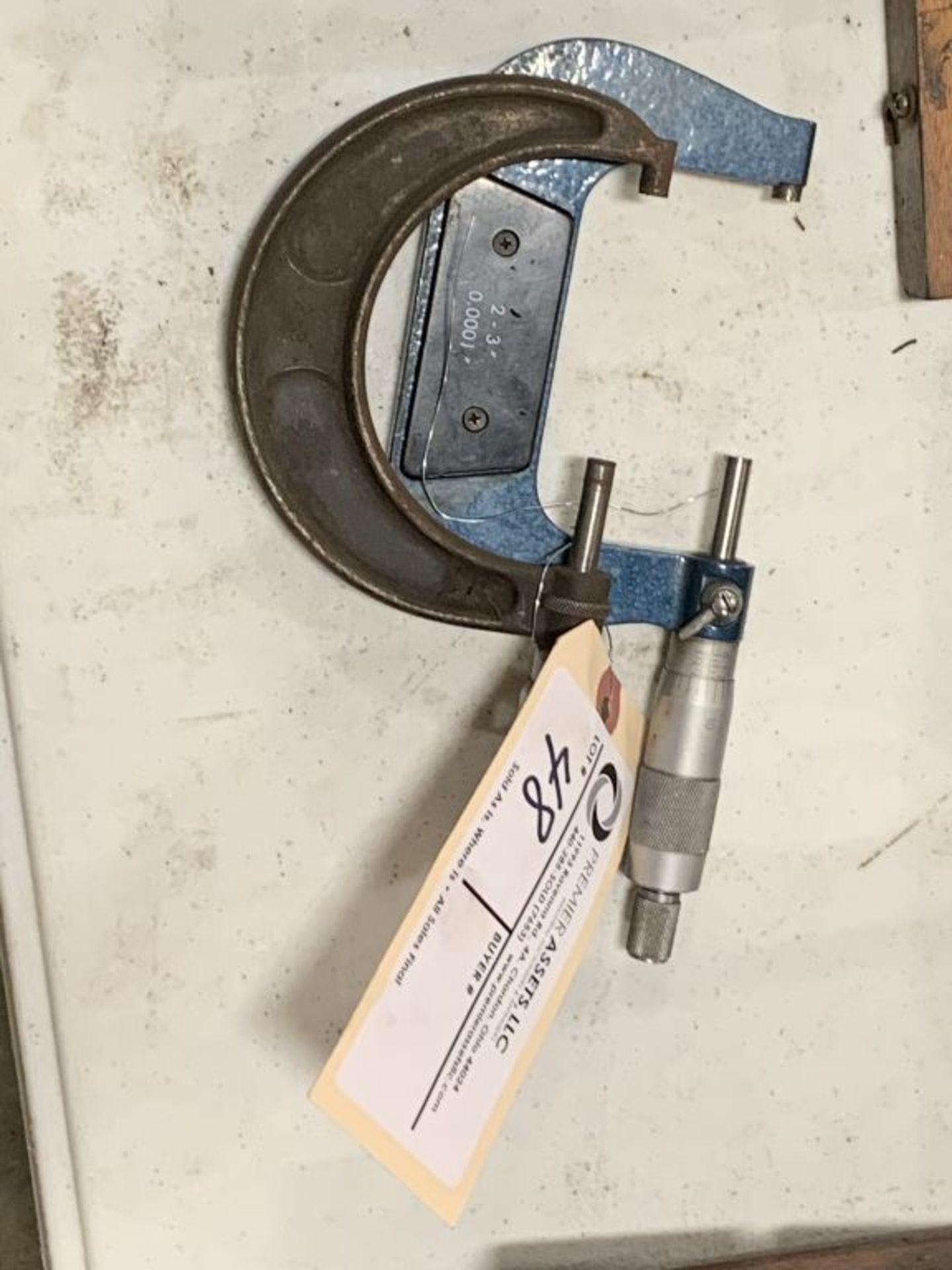 """(2) Brown & Sharpe micrometer 2"""" - 3"""" & micrometer 2"""" - 3"""""""
